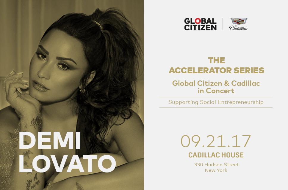 Demi Lovato Cadillac House Global Citizen Accelerator Series Concert