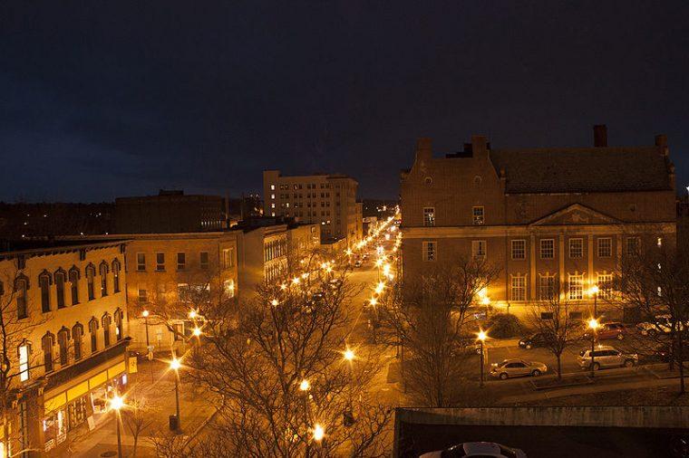 illuminated streets