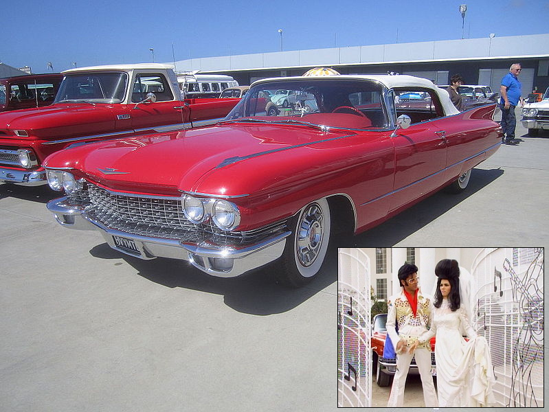 Jesse Becky Elvis Car 1960 Cadillac Series 62 Convertible Red