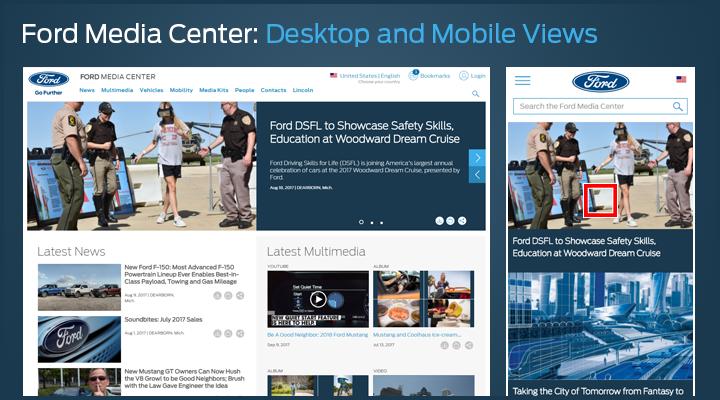 Ford Media Center redesign