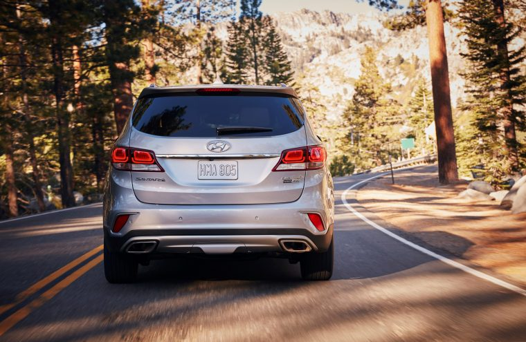2018 Hyundai Santa Fe overview crossover SUV details rear exterior