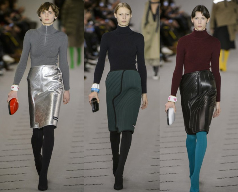 Balenciaga Car Floor Mat Skirt Silver Green