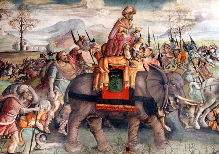 Hannibal in Italy by Jacopo Ripanda - Sala di Annibale - Palazzo dei Conservatori - Musei Capitolini - Rome