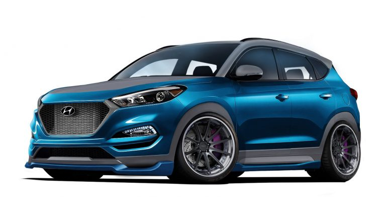 Vaccar Hyundai Tucson Sport Concept 2017 SEMA Show custom crossover SUV