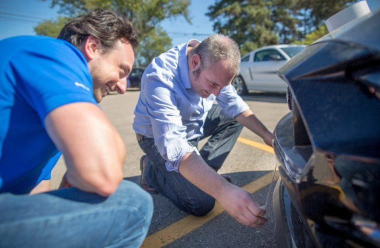 Ford Mustang engineers use duct tape
