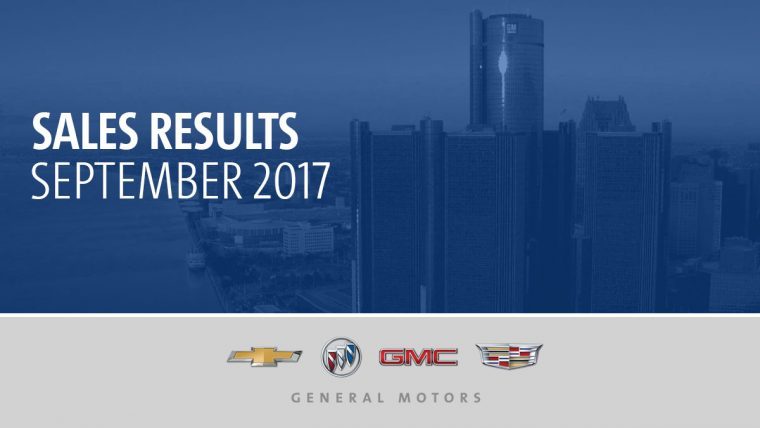 General Motors September 2017 sales