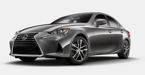 2018 Lexus IS gray silver body paint