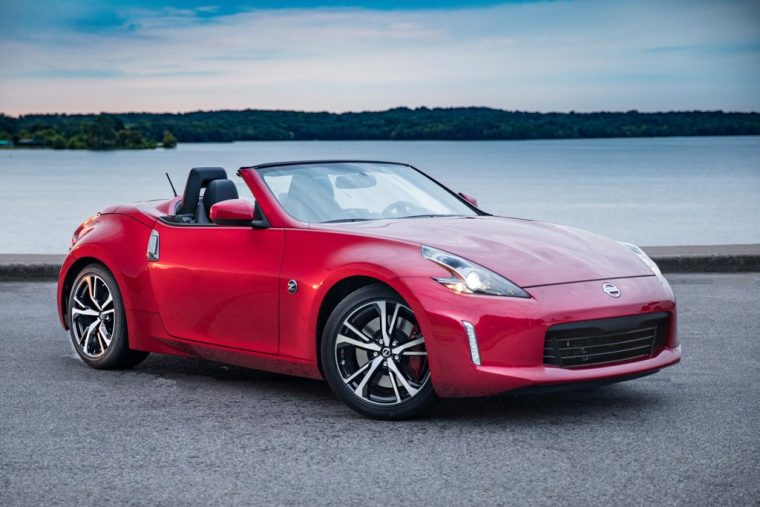 2018 Nisan 370Z roadster convertible overview details specs features trims red body color exterior design