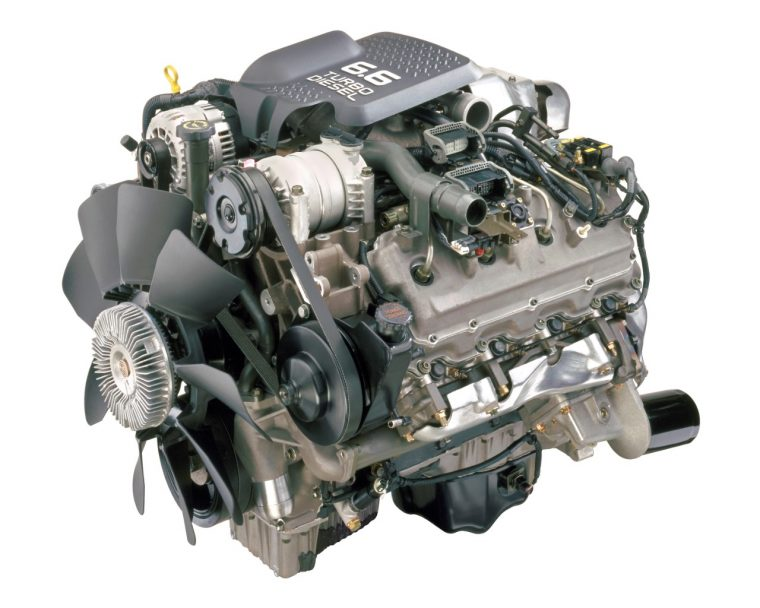 Duramax 6.6L turbo-diesel V-8 engine, introduced in 2001, featured four valves per cylinder and direct injection. It was rated at 300 horsepower and 520 lb-ft of torque.