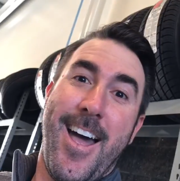 Justin Verlander happy face