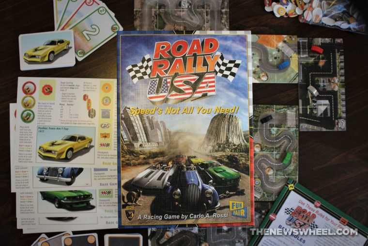 Road Rally USA review Mayfair board game car automotive racing motorsports tabletop buy