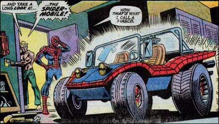 Spider-man Spider mobile car vehicle Marvel Comic book