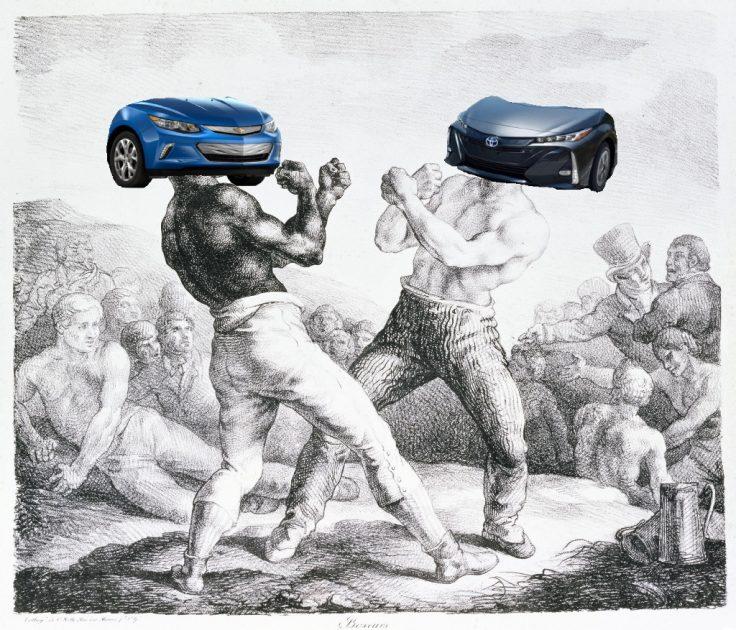 Théodore Géricault The Boxers Chevrolet Volt vs Toyota Prius Prime