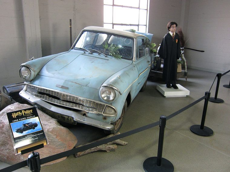 Warner Brothers Studio Tour London Harry Potter Ford Anglia Chamber of Secrets Flying Car