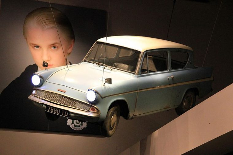 Warner Brothers Studio Tour London Harry Potter and the Chamber of Secrets Ford Anglia Flying Car