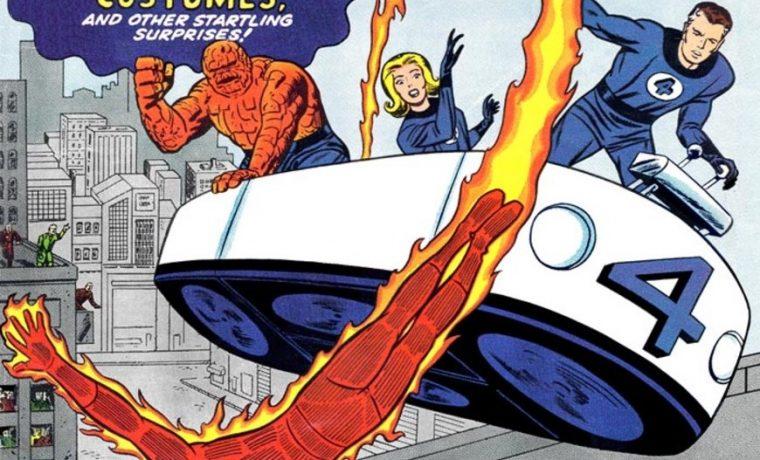fantastic 4 original fantasticar flying bathtub vehicle car Marvel comics