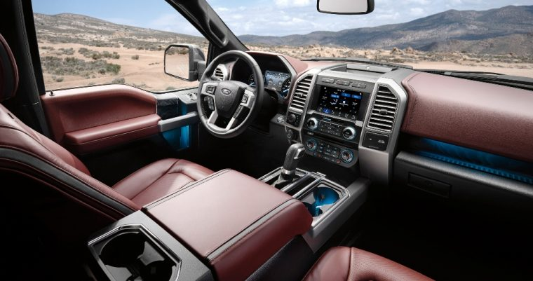 2018 Ford F-150 pickup truck overview specs details driver dashboard seats