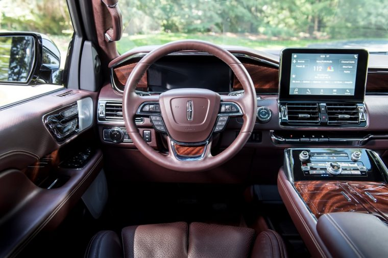 2018 Lincoln Navigator Model Overview family luxury SUV specs features details driver seat steering wheel