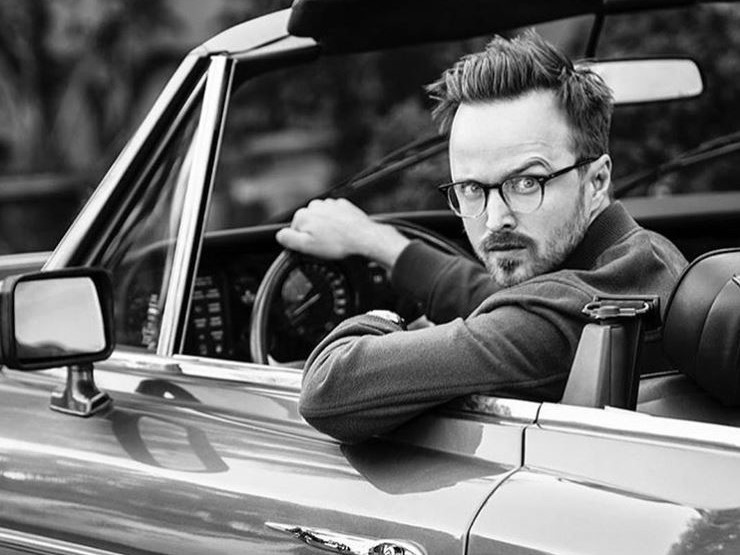Aaron Paul drives a classic car Ford Shelby Cobra Instagram