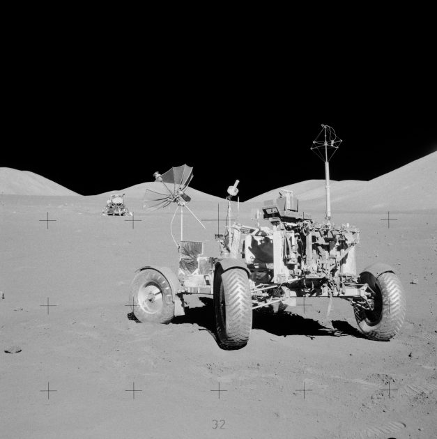 Apollo 17 rover at final resting site