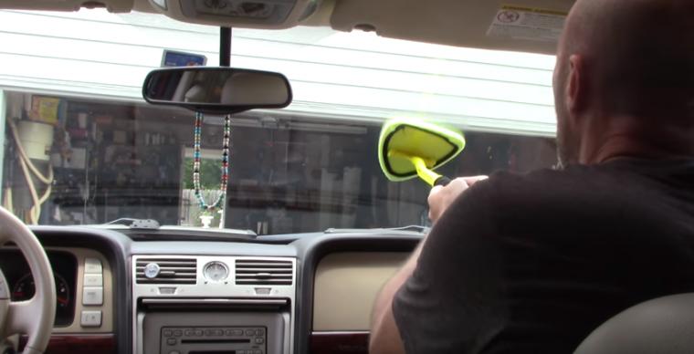 clean windshield