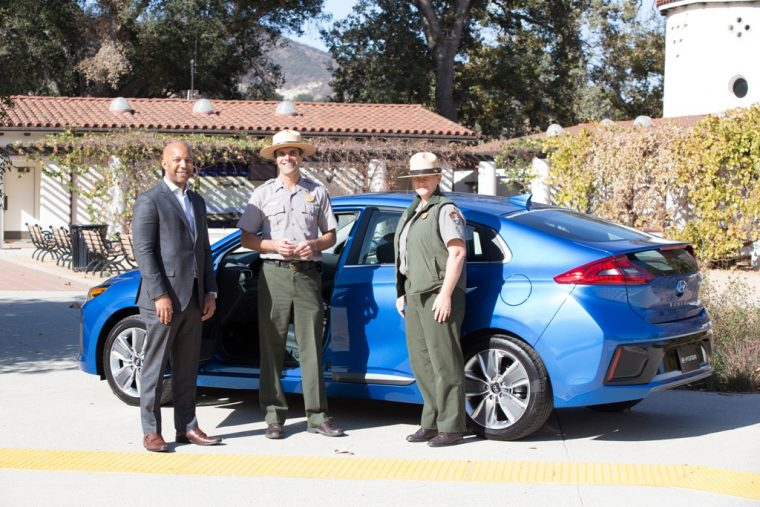 Hyundai Ioniq Hybrid donated to support America National Parks service preservation