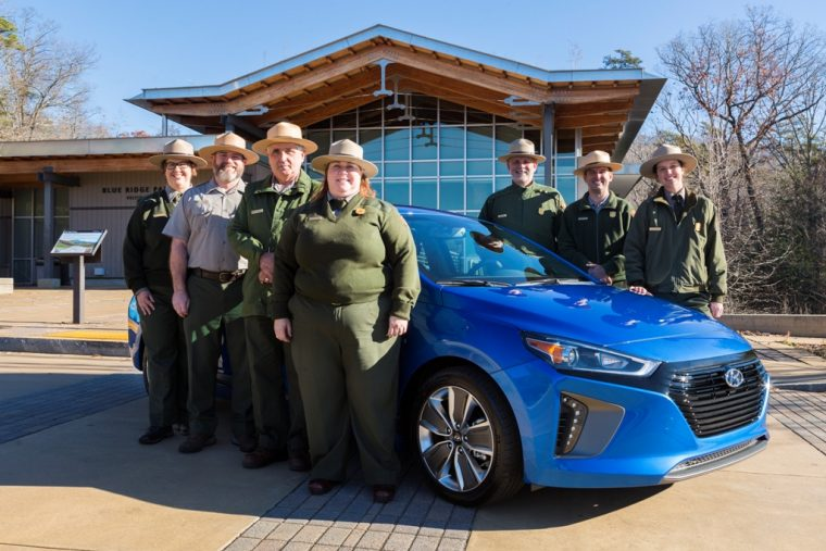 Hyundai Ioniq Hybrid donated to support America National Parks service preservation (b)