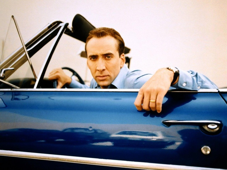 Nicholas Cage celebrity driving classic car