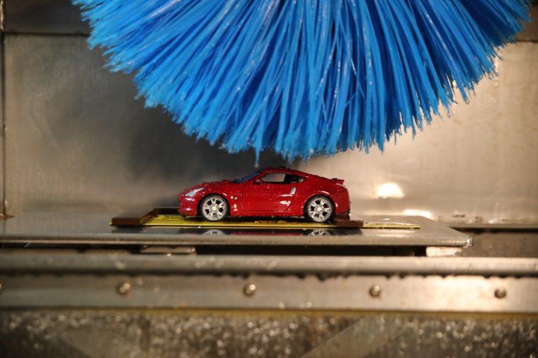 Miniature Nissan car wash