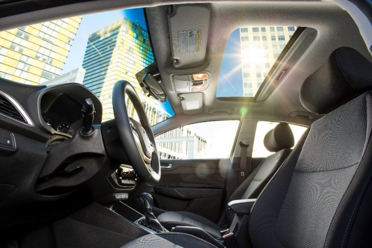 2018 Hyundai Accent overview compact car specs information features interior photo windshield windows