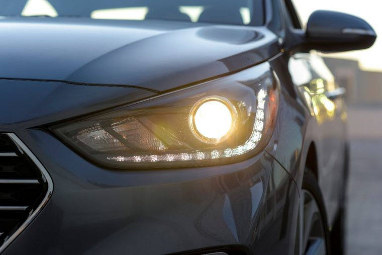 2018 Hyundai Accent overview subcompact car model features specs exterior photo headlight