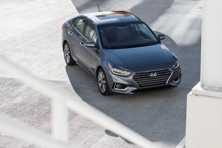 2018 Hyundai Accent overview subcompact car model features specs exterior photo top sunroof