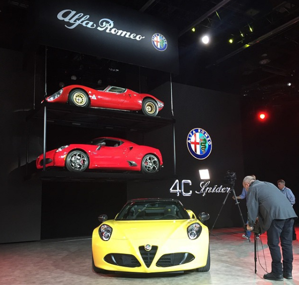 Jerry Seinfeld 2016 Alfa Romeo 4C Spider