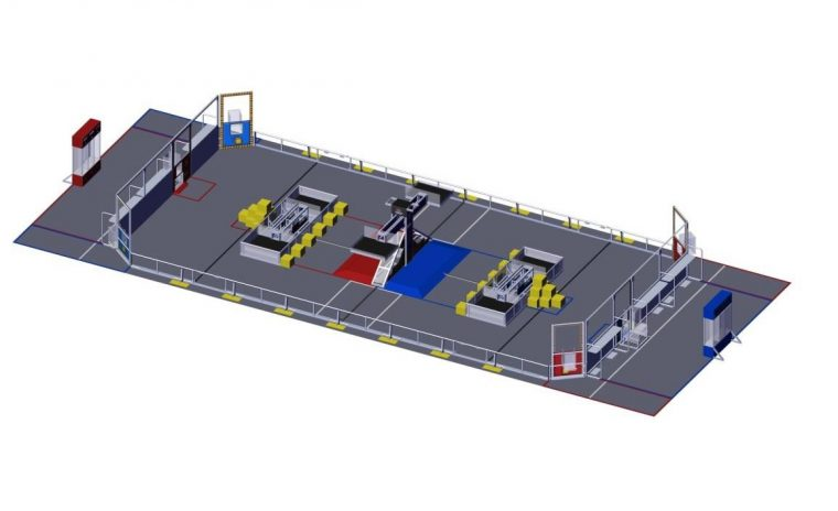 the layout of the arena for the FIRST POWER UP Challenge