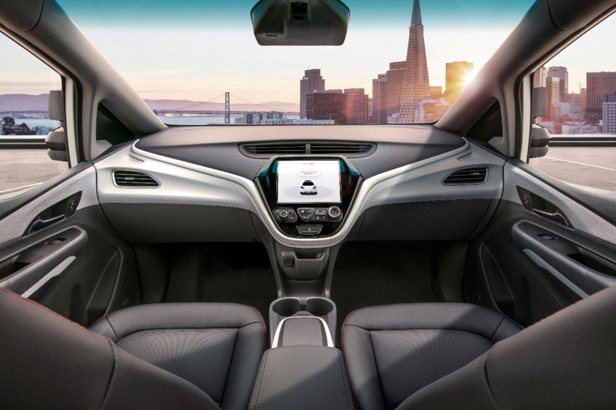 General Motors Cruise AV Interior