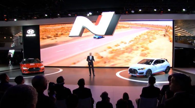 Hyundai Veloster N reveal debut 2018 North American International Auto Show N performance brand car details