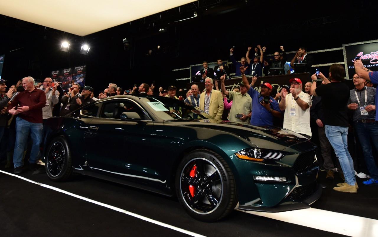 Mustang Bullitt For Sale >> Liquid Blue Ford GT, VIN 001 Mustang Bullitt Raise $2.85 ...