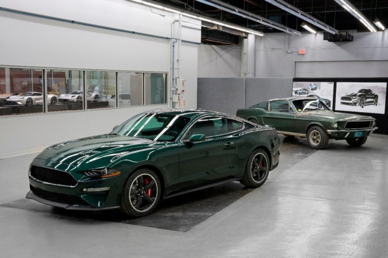 2019 Ford Mustang Bullitt and 1968 Ford Mustang GT
