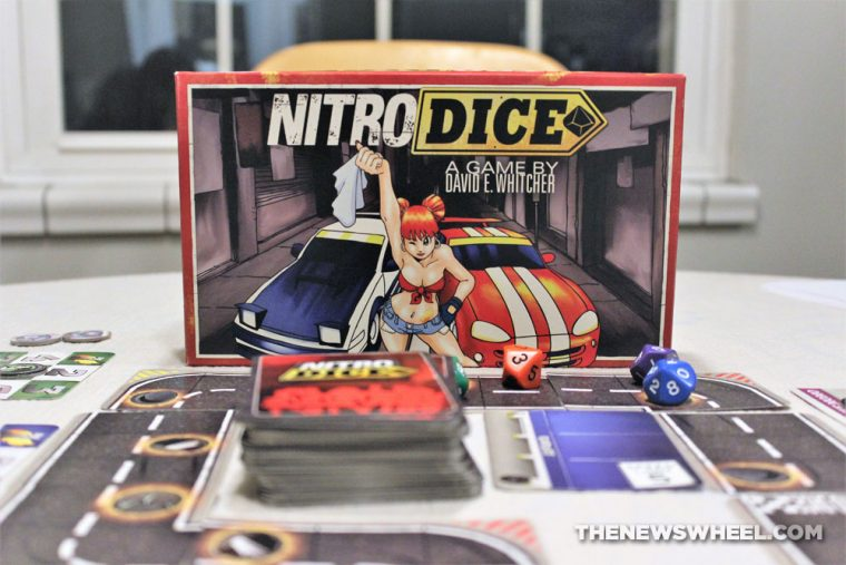 Nitro Dice Review Minion Games Car Street Racing Board Game Cards tabletop motorsports