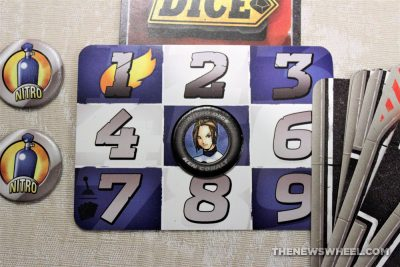 Nitro Dice Review Minion Games Car Street Racing Board Game Cards tabletop motorsports damage cars
