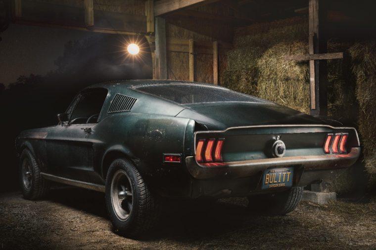 1968 Ford Mustang GT Bullitt in a Nashville barn