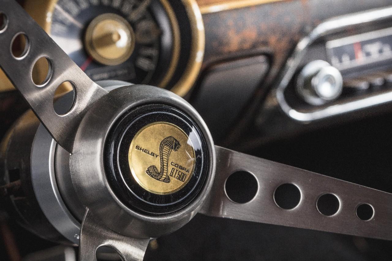 1968 Ford Mustang GT Bullitt Shelby Snake steering wheel