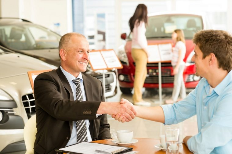 handshake buying used car