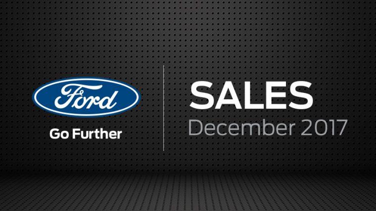 Ford December 2017 sales