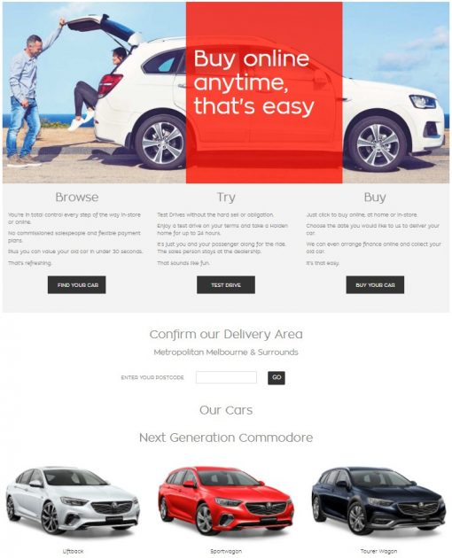Holden Commodore website