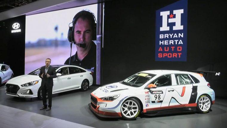 2018 Chicago Auto Show news Hyundai motorsports event presentation i30n TCR Perelli World Challenge Bryan Herta