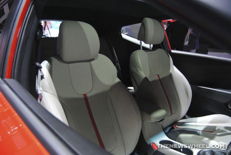 2019 Hyundai Veloster Turbo orange sports car hatchback redesign Chicago Auto Show (2)