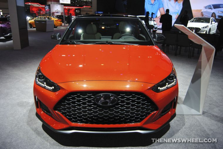 2019 Hyundai Veloster Turbo orange sports car hatchback redesign Chicago Auto Show (5)