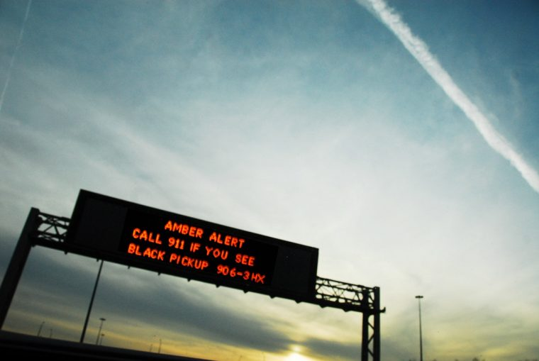 Amber alert highway sign road 911 abduction message history