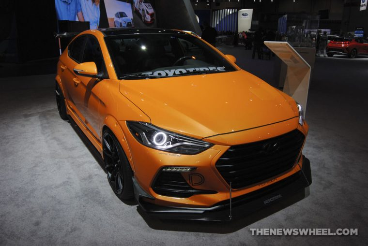 Blood Type Racing Hyundai Elantra Sport Concept orange sports car custom Chicago Auto Show (2)